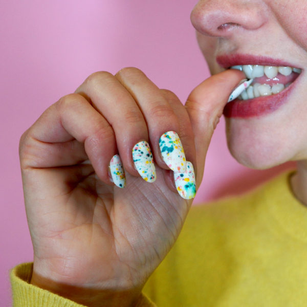 Edicure - eating the edible manicure
